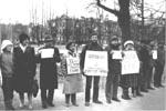 Demonstration of refuseniks at the Smolny Monastery. April 23, 1987, Leningrad.