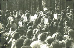 3rd Festival of Jewish Song, Sukkot, 1980. Another part of the clearing.